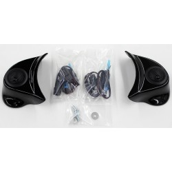 Gloss Black Pods W/ Tweeter Complete Kit 2014-2020 Batwing Fairing Models